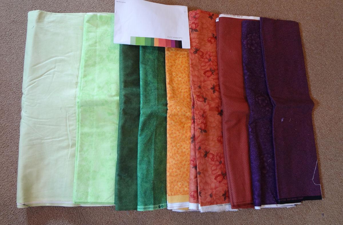 February Palette Challenge Fabrics