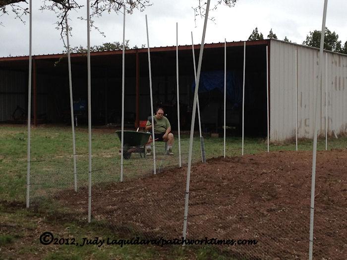 Garden Fence Progress