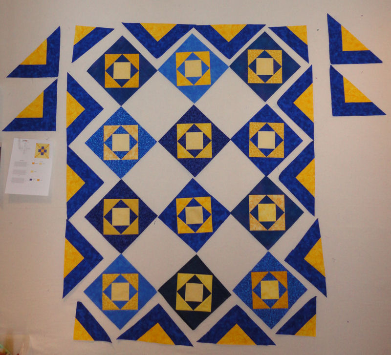 Progress on Margie's Quilt