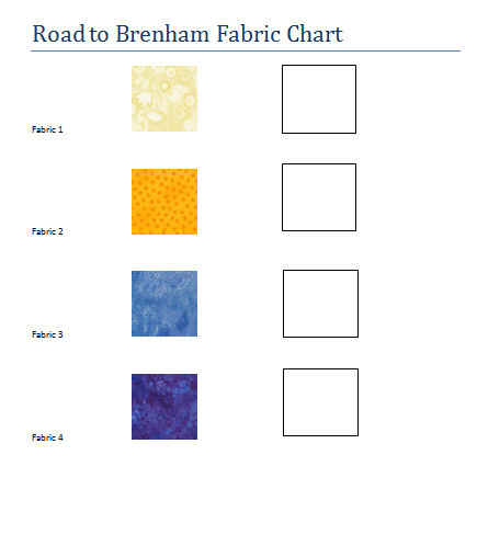 Road to Brenham Fabric Chart