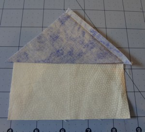 Adding Fabric 4 Triangle