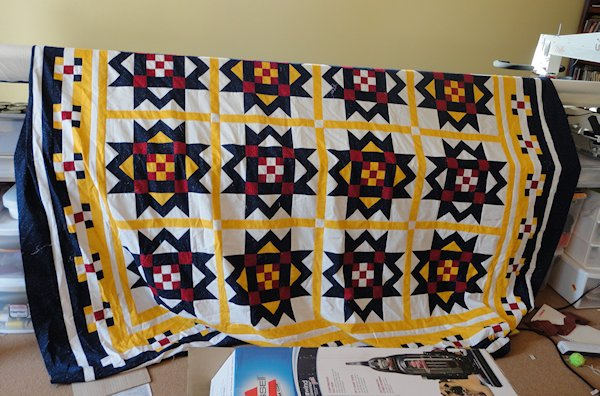 A Quilt Top Quilted