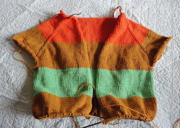 Progress on Nicole's Sweater