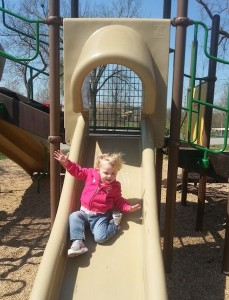 Addie on the Slide