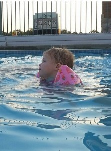 Addie in the Pool
