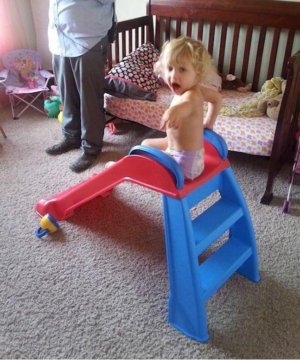 Addie on Slide