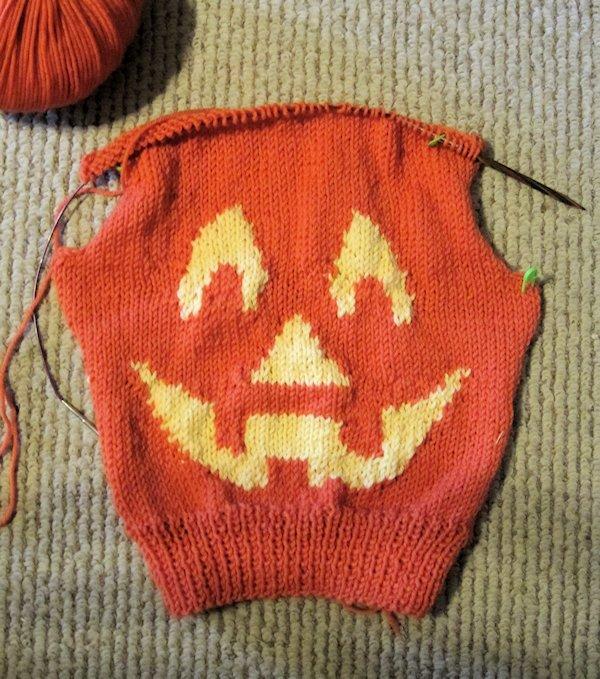 Jack-o-Lantern Sweater