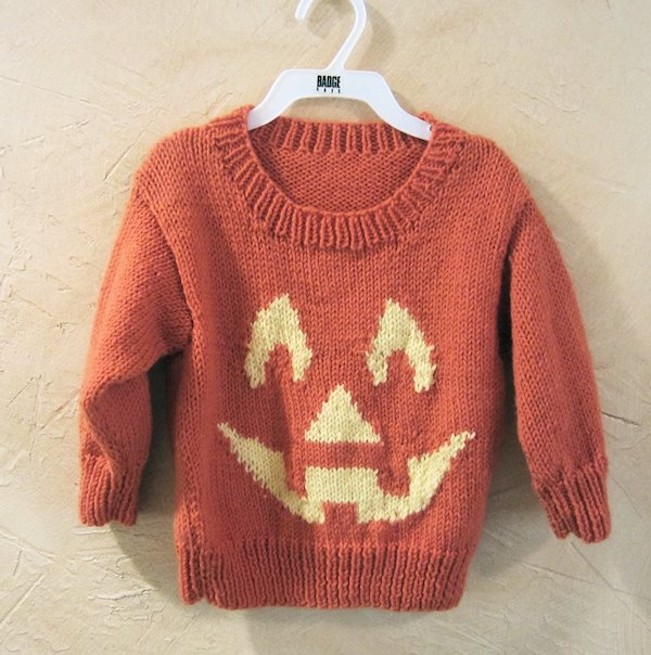 Jack-o-Lantern Sweater Finished