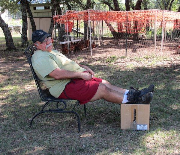 Vince Relaxing
