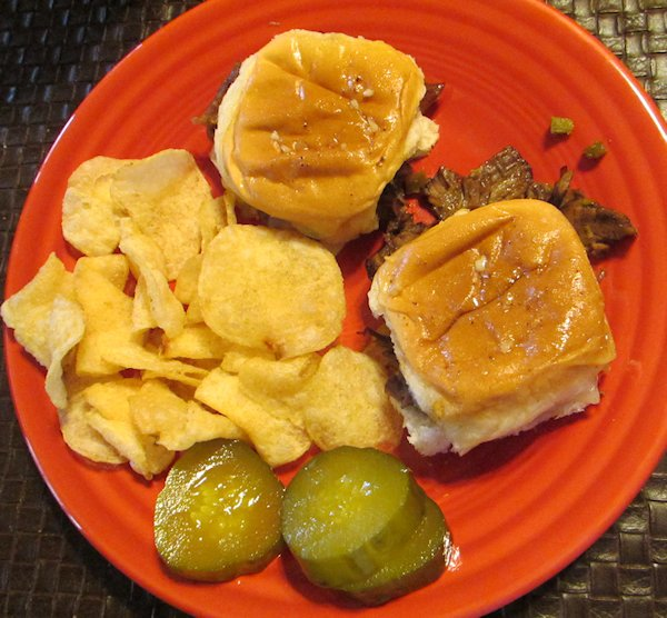 Warm Roast Beef Sandwiches