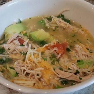 Chicken, Avocado, Lime Soup