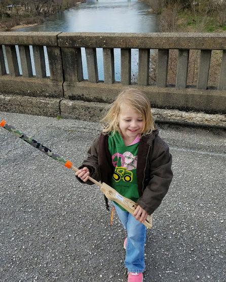 Addie on Bridge