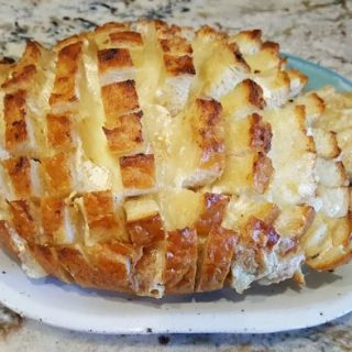 Roasted Garlic & Brie Pull Apart Bread