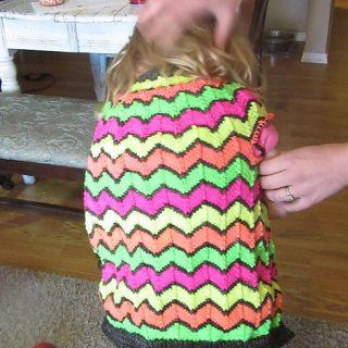 Addie's Neon Rainbow Sweater