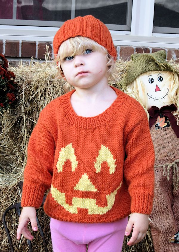 The Pumpkin Sweater . . Modeled
