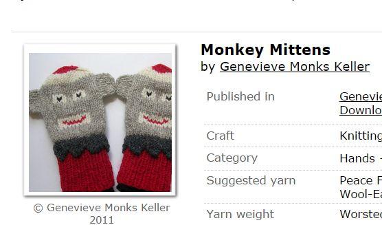 January KAL – Monkey Mittens