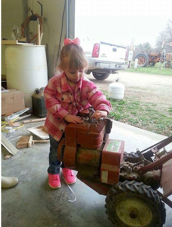 Addie Helping Papa