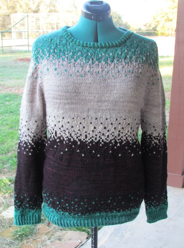 Pixelated Pullover Finished!
