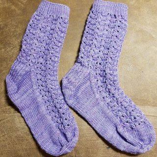 Winter Rose Socks Finished