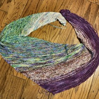 Fade Shawl is Finished