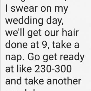 Wedding Day Plans